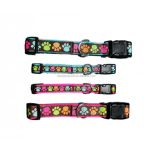 Top Supplier Luxury Christmas Color Print Paws Dog Collar Durable Nylon Material