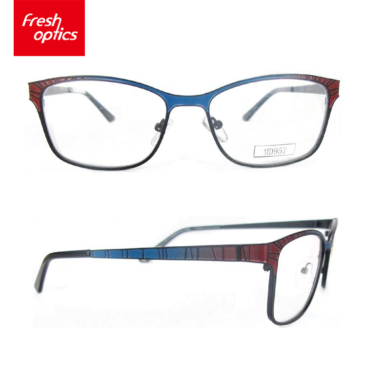 Cheap promotional metal bulk glasses stock optical frames wholesale