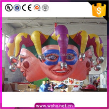 5M high Giant Halloween Inflatable Clown Mask Balloon Inflatable Monster