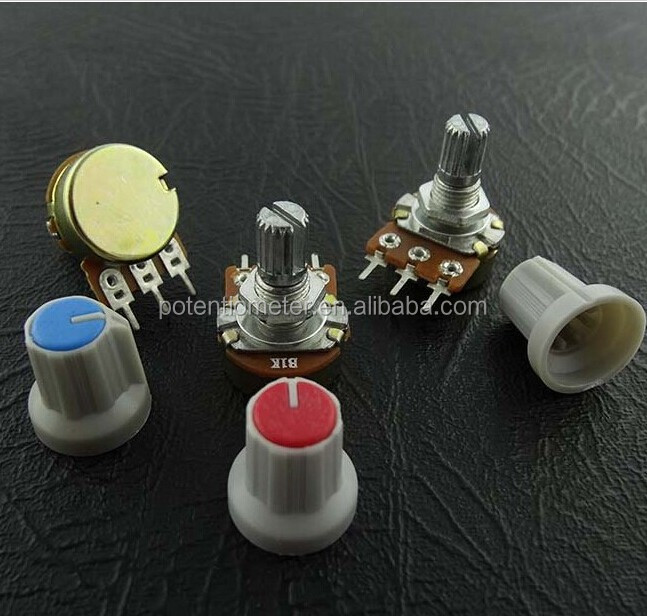 Single Mono10K ohm lin Linear Log Logarithmic Switch Pot Potentiometer And Knob