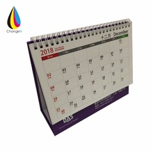 Custom Printed Promotional Paper Table Stand Desktop Calendar, Desk Calendar Printing 2018