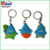 2017 Promotional soft pvc 2d cartoon keychain with dolphin design