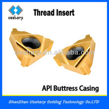 API Carbide Threading Insert/Buttress Carbide Threading Inserts with High Quality