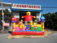Winnie and angry bird inflatable amusement park, inflatable game toys for adults, inflatable fun city