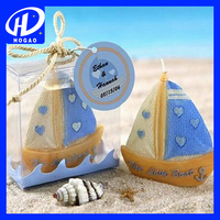 Company Celebration Supplies Sailing Boat Candle Decoration