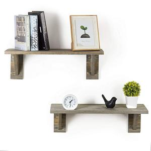 new products Rustic Barnwood Gray Wooden wall shelves decorative