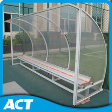 Soccer outdoor sports shelter dugout substitute bench