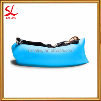Outdoor Convenient Inflatable Lounger Nylon Fabric Sleeping Compression Air Bag Portable Dream Chair