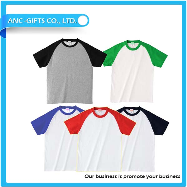 Custom 3/4 sleeve raglan baseball t-shirt blank long sleeve and short sleeve t shirt wholesale