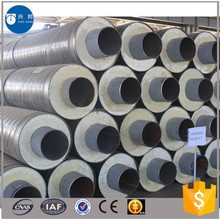 hot water and cooling water insulation pipeline seamless pipe covered with insulation material and iron sleeve outside