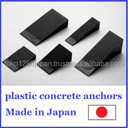 Polypropylene plastic concrete shim spacer wedge as building material