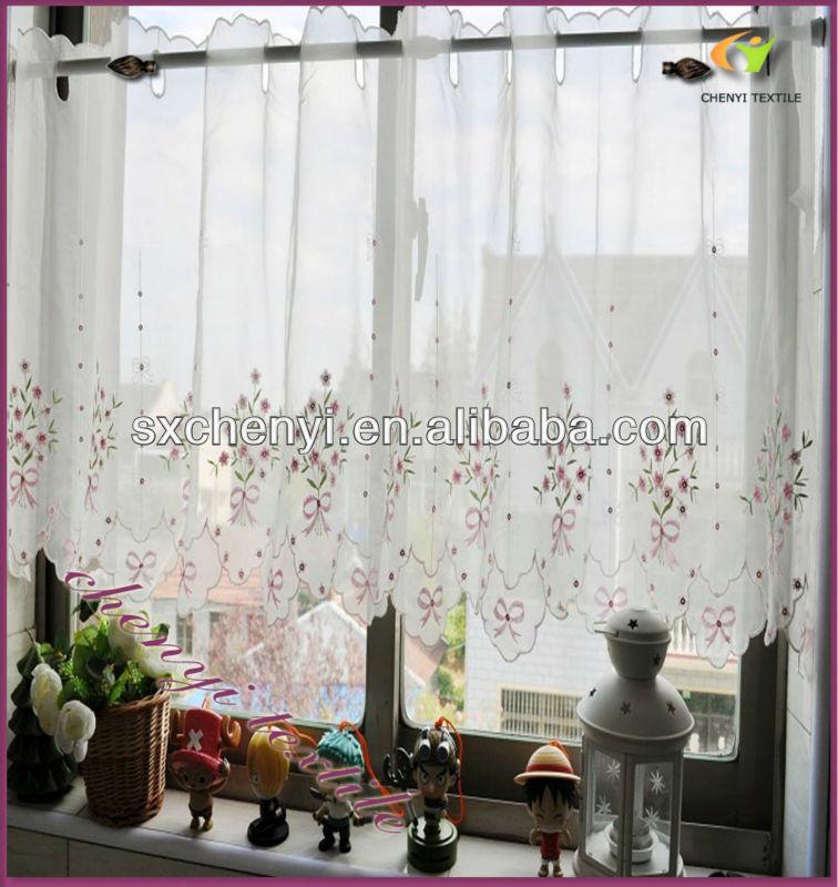 Nuevo acabado transparente encaje cocina cortina s lo para for Cortinas de cocina precios