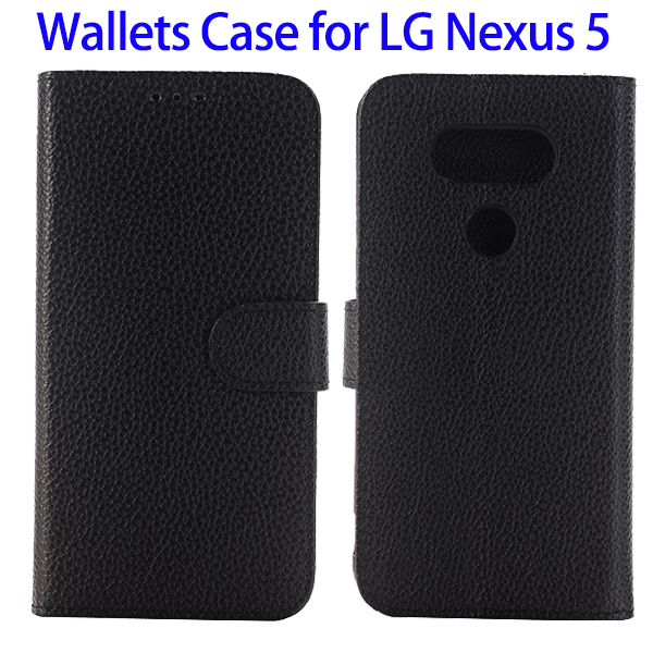 Wallet Flip PU Leather Phone Cover for LG Nexus 5 Case, for LG Nexus 5 Mobile Phone Flip Case Cover