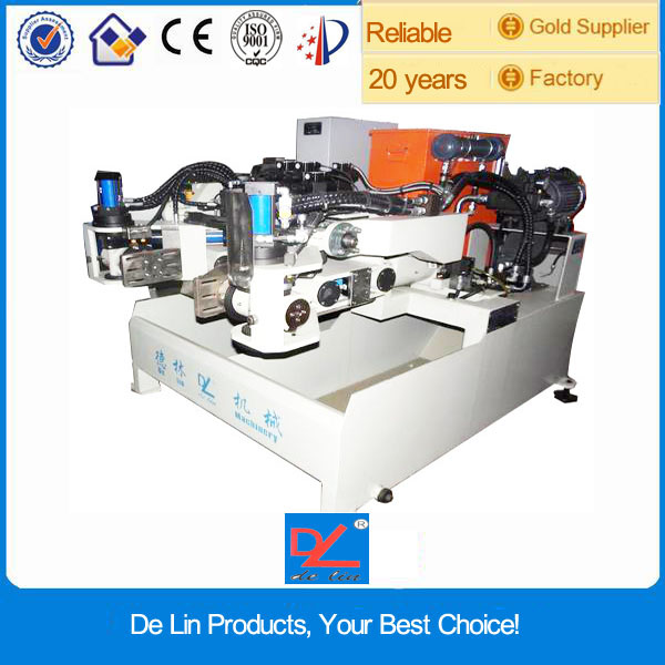 Lead induction die casting machine with engine block equipment