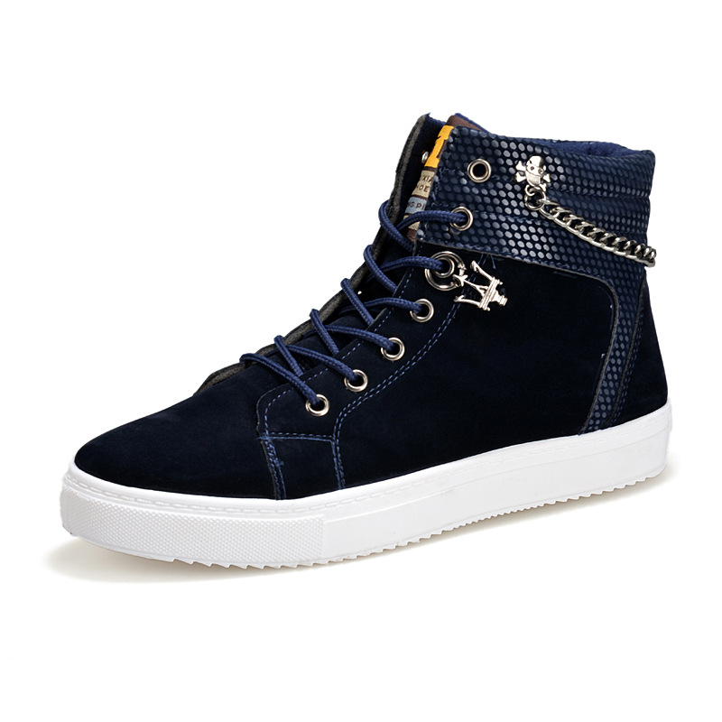 New Fashionable Men's <strong>Shoes</strong> High-Top Zipper <strong>Shoes</strong> Factory Casual <strong>Shoes</strong>