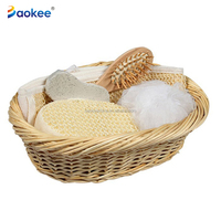 Promotional Natural Spa Bath Set Gift For Women Shower Set In Basket