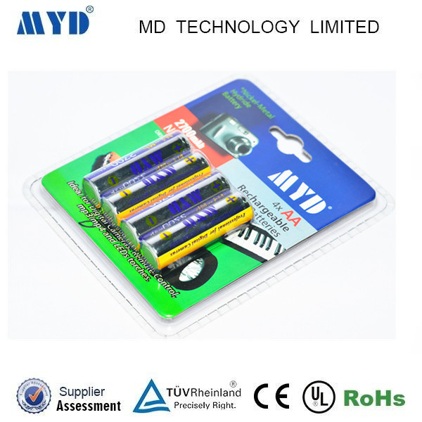 1.2v 2700mah NIMH AA rechargeable batteries for Toys Flashlights Solar Lamp Lights Microphone Ecectronic Dictionary Calculator