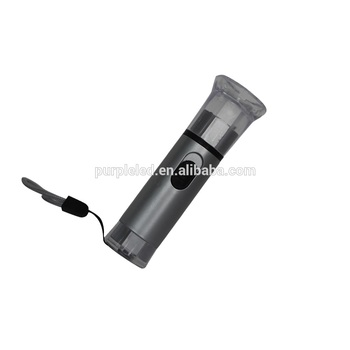 Grey color ABS plastic led rechargeable flashlight/torch