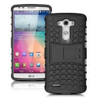 Heavy Duty Cover Inner Rubber + Plastic Shockproof Hybrid Case For LG G3