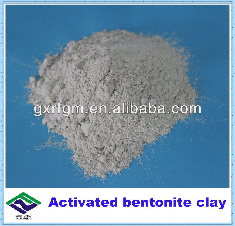 Activated bentonite clay for cooking oil refining/recyling