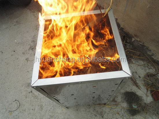 Popular factory direct galvanized incinerator