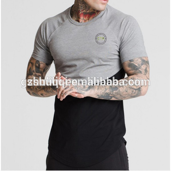 longline zipper polo shirt /longline T shirt with zip /custom made side zip polo shirt cheap t shirt