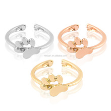 Ladies Finger Animal Foot Gold Ring Design YU-0323