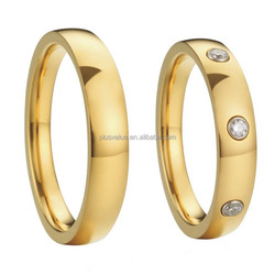 latest wedding ring designs18k gold plated with CZ diamond MOQ 1pair free shipping