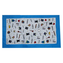 Hot selling 100% cotton printed tea towels wholesale