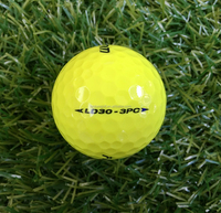 3 Layers Yellow Surlyn Tournament Golf Ball by Fantom with 320 Dimples
