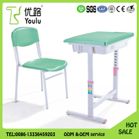 China Manufacturer Cheap Plastic Nursery School Desk And Chair