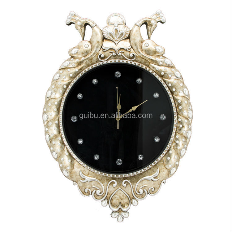 Hanging double sided dual time wall clocks buy dual time for Dual time wall clock