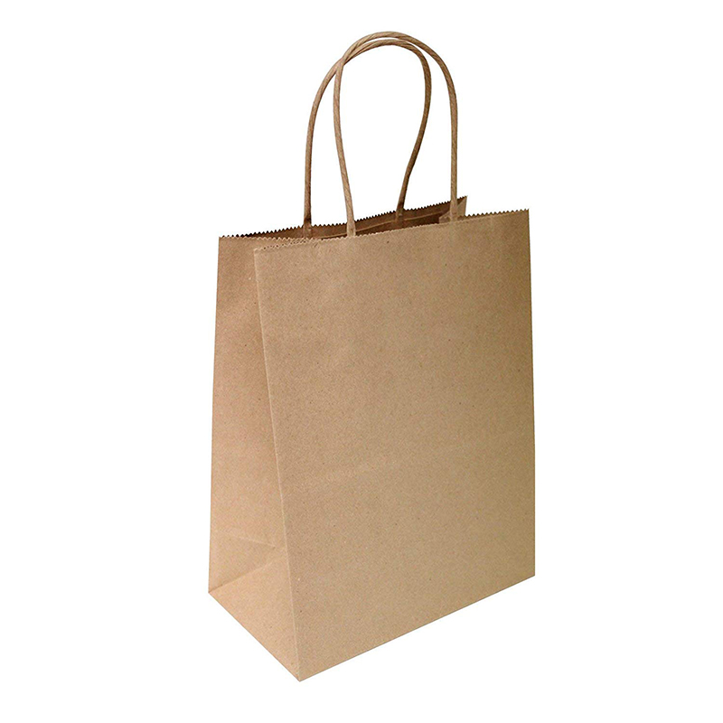 Brown Kraft Bags 8&quot;x4.75&quot;<strong>x10</strong>&quot; - 100 Pcs - Brown Kraft Paper Bags