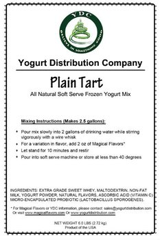 YDC Plain Tart Soft-Serve Frozen Yogurt Mix