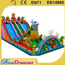 Hot new products airplane inflatable slide bouncer for sale