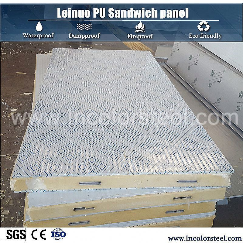 heat insulation pu sandwich panel modern steel structure warehouse in india