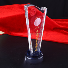 Cheap 3D Engraved Crystal Trophy And Award Cups Rectangle Trophy