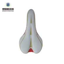 Hot selling cheap new design fashion comfortable multi color leather bicycle saddle