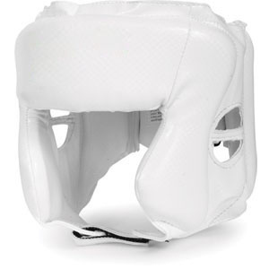 Chin & Cheek Protection Headgear White