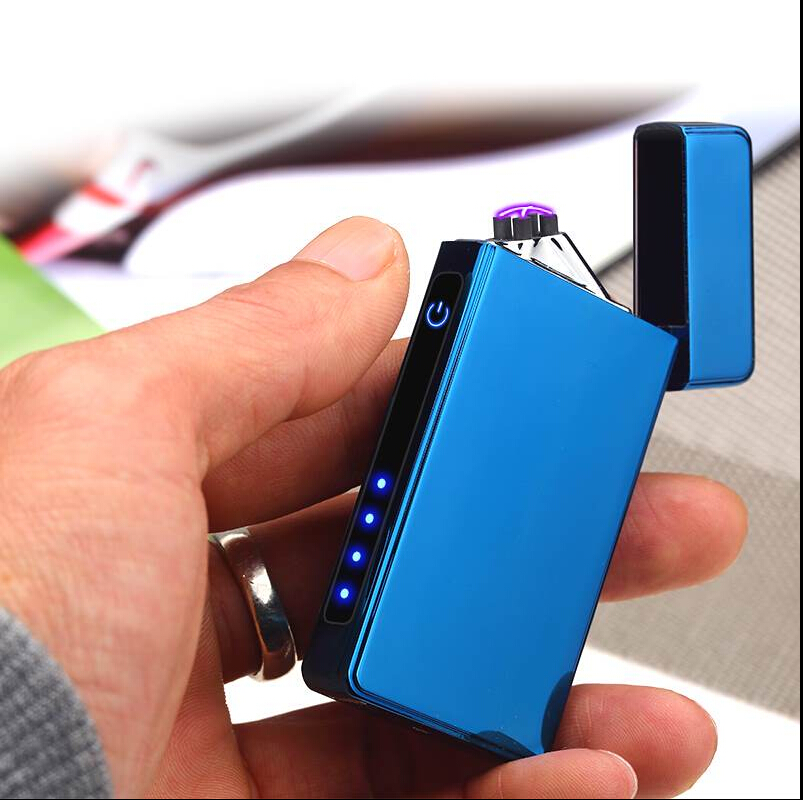 JL-830V new style electric usb double arc lighter