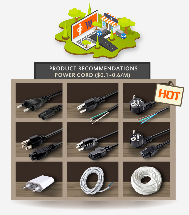 Wholesale VDE 3 Core Rubber AC H05RN-F Power Cord For Small Home Appliance