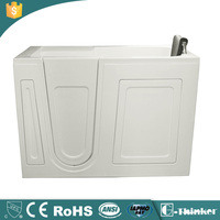 China manufactured cupc approved acrylic walk in bathtub shower combo for disabled