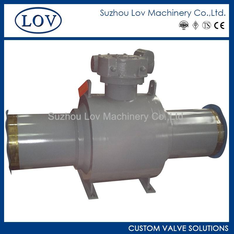 Trunnion Mounted Full Welded Gear Operate Ball Valve