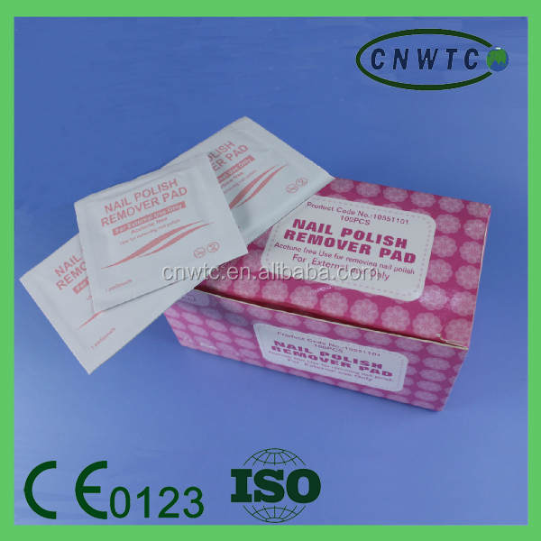 Nail Polish Remover Wraps soak off UV gel nail pads