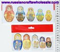 Fridge Magnets in the Form of Russian Dolls Matrioshka with Ethnic Painting Ornament, Promotion Business Gift Wholesale