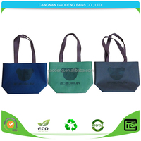 Wholesale promotional cheap custom fashionable shopping non woven bags