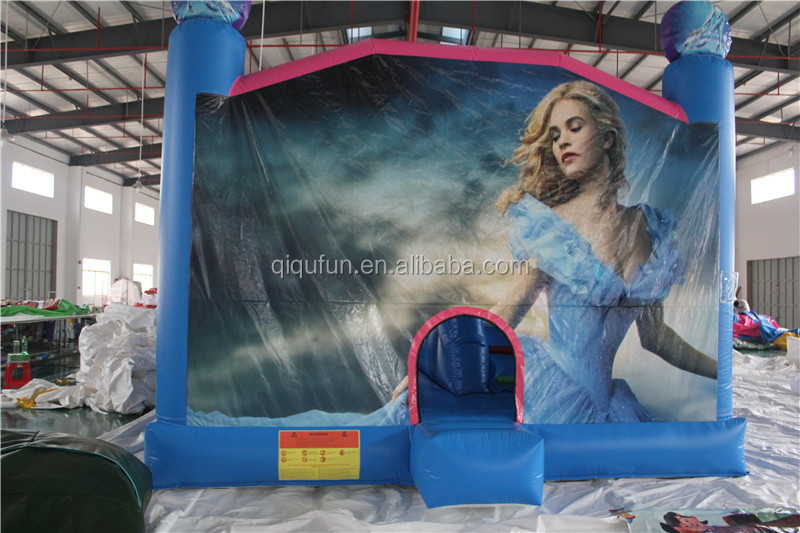 2016 new design Cinderella story inflatable bouncer slide combo giant inflatable playgrounds for children
