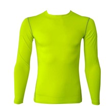 Spring Thin Compression Baselayer Plain Color <strong>Sports</strong> Long Sleeve Shirt