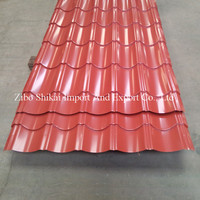 Hot sale antique tile color coated metal curved roofing sheets