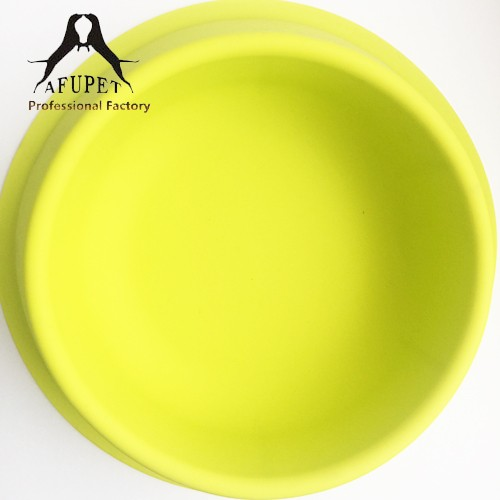 professional big content silicone pet bowl for wholesale